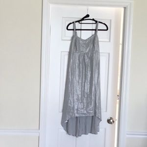 Tommy Bahama silver metallic linen dress. Small